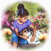 Puppy Love Print by Dawn Serkin