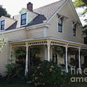 Quaint House Architecture - Benicia California - 5d18793 Print by Wingsdomain Art and Photography
