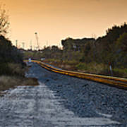 Railway Into Town Print by Carolyn Marshall
