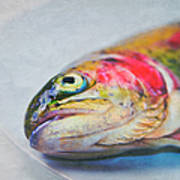 Rainbow Trout On Plate Print by Image by Catherine MacBride