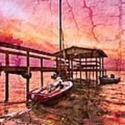 Ready To Sail Print by Debra and Dave Vanderlaan