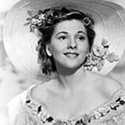Rebecca, Joan Fontaine, 1940 Print by Everett