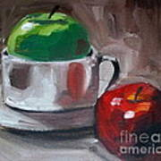 Red And Green Apples Print by Samantha Black