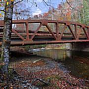 Red Bridge Print by Debra and Dave Vanderlaan