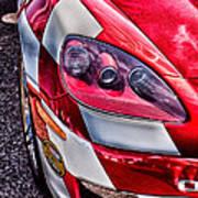 Red Corvette Print by Lauri Novak