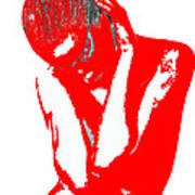 Red Drama Print by Naxart Studio