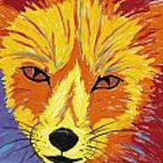Red Fox Print by Peggy Quinn