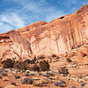 Red Rock And Blue Skies 2 Print by Bob and Nancy Kendrick