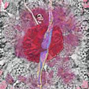 Red Tutu Print by Cynthia Sorensen