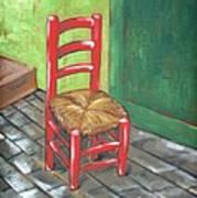 Red Vincent Print by JW DeBrock