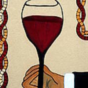 Red Wine Glass Print by Cynthia Amaral