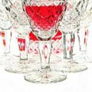 Red Wine Glass Print by Parinya Kraivuttinun