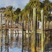 Reflections At Fort Pierce Print by Trish Tritz