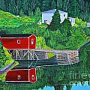 Reflections H D R Print by Barbara Griffin