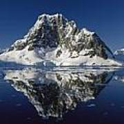 Reflections With Ice Print by Antarctica
