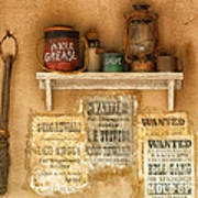 Relics Of The Old West Print by Sandra Bronstein
