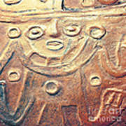 Relief Art In Earthtones Print by Artist and Photographer Laura Wrede