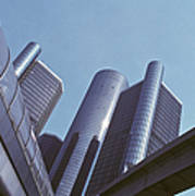 Renaissance Center In Detroit Print by Will & Deni McIntyre