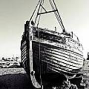 Retired Fishing Boat Print by Sharon Lisa Clarke