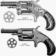 Revolvers, 19th Century Print by Granger