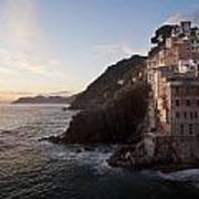 Riomaggio Sunset Print by Mike Reid