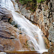 Ripley Falls - Crawford Notch State Park New Hampshire Usa Print by Erin Paul Donovan
