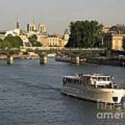 River Seine In Paris Print by Bernard Jaubert