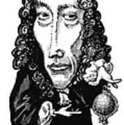 Robert Boyle, Caricature Print by Gary Brown