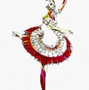 Robot Ballerina Print by Steve K