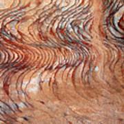 Rock Formation At Petra Jordan Print by Eva Kaufman