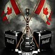 Rock N Roll Crest- Canada Print by Frederico Borges
