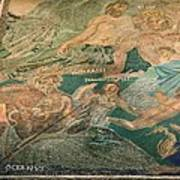 Roman Cosmological Mosaic Print by Sheila Terry