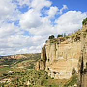 Ronda Cliffs In Andalusia Print by Artur Bogacki
