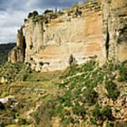 Ronda Rock In Andalusia Print by Artur Bogacki