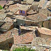 Roofs Of Provence Print by Bernard Gaillot