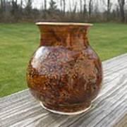 Root Beer Vase Print by Monika Hood