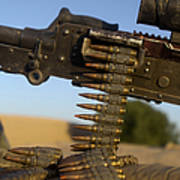 Rounds Of A M240 Machine Gun Print by Stocktrek Images
