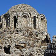 Ruins Of Byzantine Basilica Alanya Castle Turkey Print by Matthias Hauser