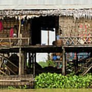 Rural Fishermen Houses In Cambodia Print by Artur Bogacki