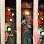 Russian Miners Print by Ria Novosti