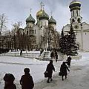 Russian Women, Dressed In Black, Walk Print by James L. Stanfield