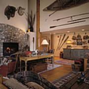 Rustic Lodge Print by Robert Pisano