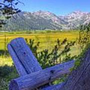 Rustic Moss Covered Pioneer Era Fence In Olympic Valley California Print by Scott McGuire