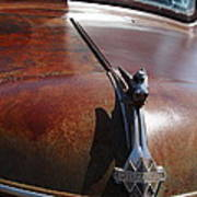 Rusty Old 1935 International Truck Hood Ornament. 7d15506 Print by Wingsdomain Art and Photography