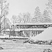 Saco River Bridge Print by Tim Murray