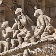 Sagrada Familia Barcelona Nativity Facade Detail Print by Matthias Hauser