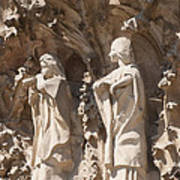 Sagrada Familia Nativity Facade Detail Print by Matthias Hauser