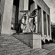 Saint Louis Soldiers Memorial Exterior Black And White Print by Joshua House