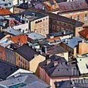 Salzburg's Roofs Austria Europe Print by Sabine Jacobs