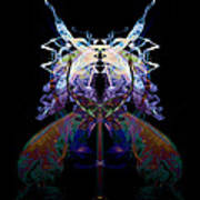 Samurai Bug Plant Print by David Kleinsasser